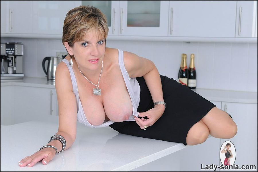 Busty british wife in kitchen » Lady Sonia « Free Lingerie ...