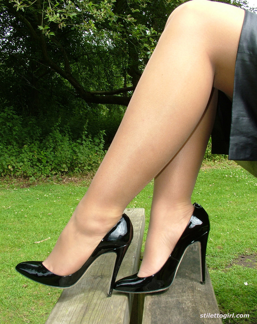 Mini skirts and stiletto heels